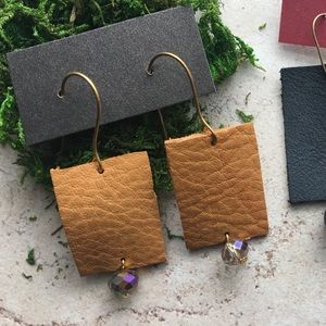 Ina Maka Designs Jewelry - Leather earrings